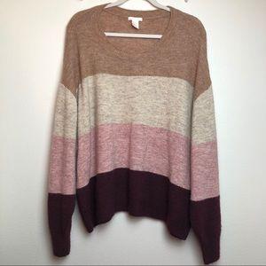 H&M Color Block Knit Sweater